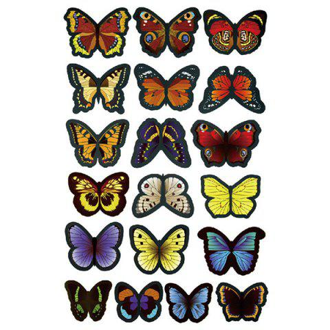 Fashion 3D Colorful Butterflies Removeable Decorative Wall Stickers - COLORMIX  Mobile