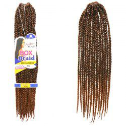 Stunning 14Pcs/Lot Dark Brown Ombre Synthetic Handmade Large Braided Hair Extension For Women -