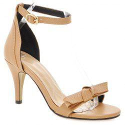 Vintage Ankle Strap and Bowknot Design Sandals For Women -