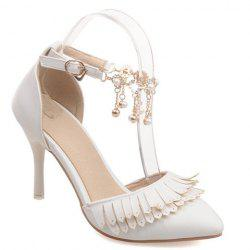 Trendy Fringe and Two-Piece Design Pumps For Women -