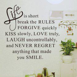 Quality Letters Pattern Removeable Quote Wall Stickers -