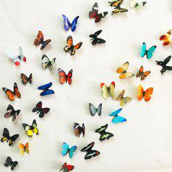 3D Colorful Butterflies Removeable Decorative Wall Stickers - COLORMIX