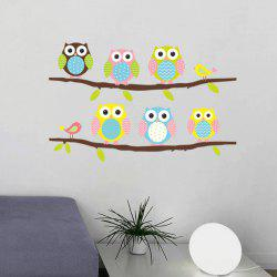 High Quality Cartoon Owl Birdie Pattern Removeable Wall Sticker -