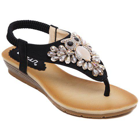 Fashion Casual Rhinestones and Flip Flops Design Sandals For Women