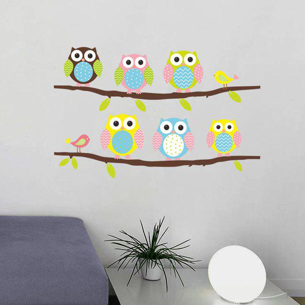 Shop High Quality Cartoon Owl Birdie Pattern Removeable Wall Sticker
