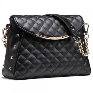 New Arrival PU Leather and Checked Design Shoulder Bag For Women -