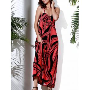 Printed High Waist Maxi Casual Dress