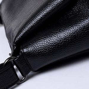 Concise Solid Colour and PU Leather Design Crossbody Bag For Women -