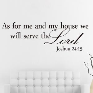 Bible Sentence Removeable Quote Wall Sticker - BLACK