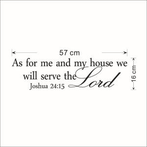 Bible Sentence Removeable Quote Wall Sticker -