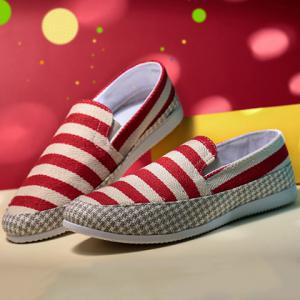 Stripe Slip On Shoes -