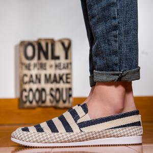 Stripe Slip On Shoes - BLACK 40