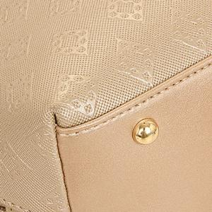 Stylish Metal and Embossing Design Tote Bag For Women -
