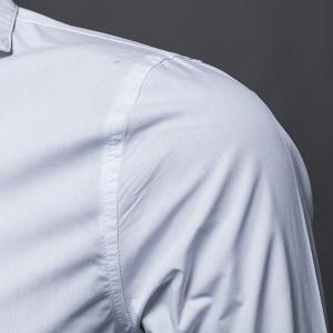 Trendy Turn-Down Collar Solid Color Long Sleeve Men's Shirt -