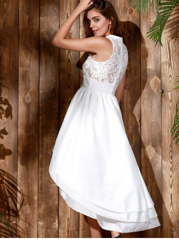 Outfit High Low Maxi Wedding Formal Dress - XL WHITE Mobile