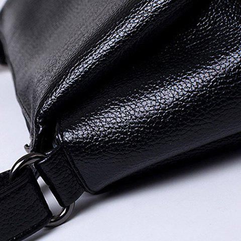 Discount Concise Solid Colour and PU Leather Design Crossbody Bag For Women -   Mobile
