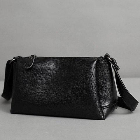 Fancy Concise Solid Colour and PU Leather Design Crossbody Bag For Women -   Mobile