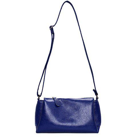 Latest Concise Solid Colour and PU Leather Design Crossbody Bag For Women -   Mobile