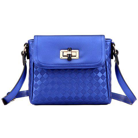 Fancy Trendy Cover and Checked Design Crossbody Bag For Women