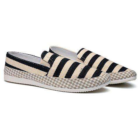 Online Stripe Slip On Shoes BLACK 40