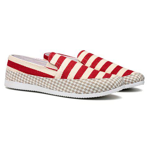 Unique Stripe Slip On Shoes