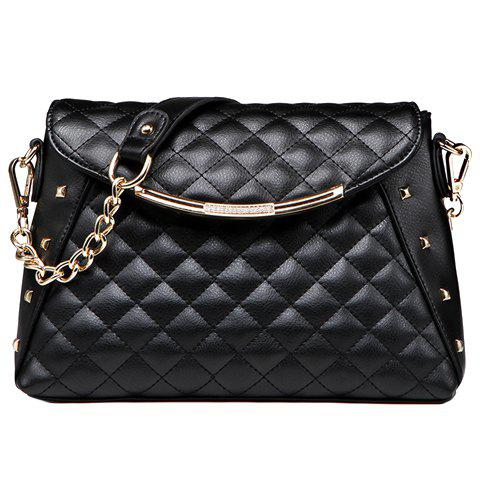 Chic New Arrival PU Leather and Checked Design Shoulder Bag For Women