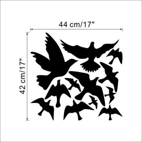 Online Stylish Solid Color Flying Birds Pattern Removeable Wall Sticker -   Mobile