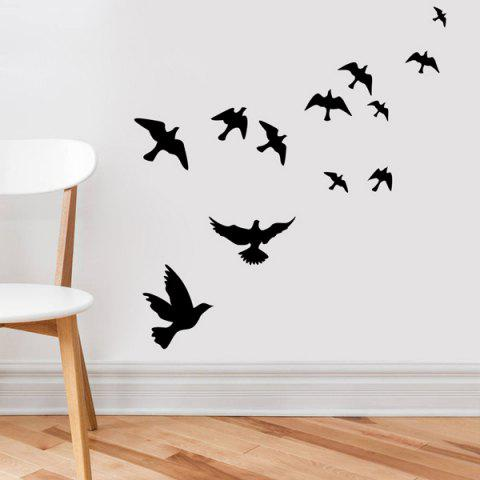 Buy Stylish Solid Color Flying Birds Pattern Removeable Wall Sticker -   Mobile
