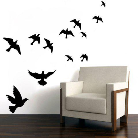 Trendy Stylish Solid Color Flying Birds Pattern Removeable Wall Sticker -   Mobile