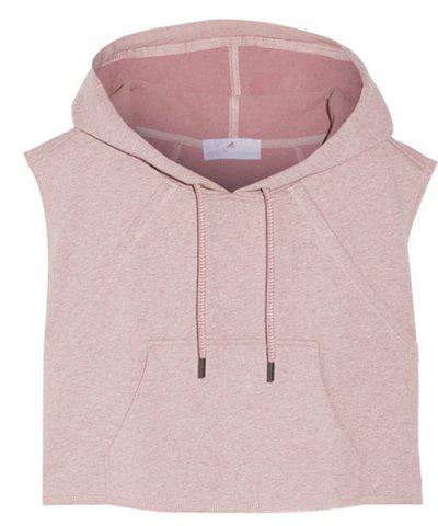 New Women's Active Hooded Sleeveless Candy Color Hoodie - S LIGHT PINK Mobile