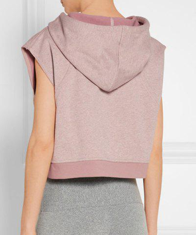 Outfits Women's Active Hooded Sleeveless Candy Color Hoodie - S LIGHT PINK Mobile