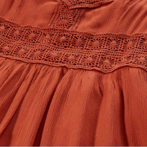 Fashion Strappy Lace Panel Going Out Flare Dress - M JACINTH Mobile