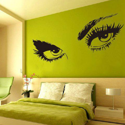 New Stylish Sexy Eye Pattern Removeable Wall Sticker BLACK