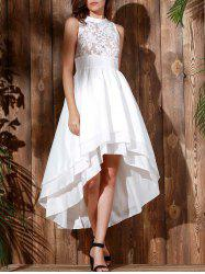 High Low Maxi Wedding Formal Dress - WHITE