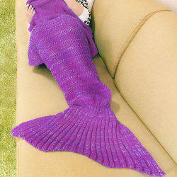 Knitted Mermaid Blanket -