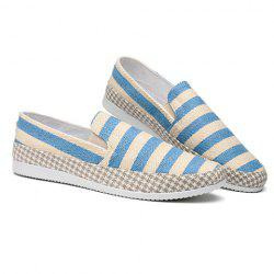 Stripe Slip On Shoes - LIGHT BLUE