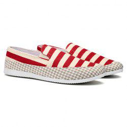 Stripe Slip On Shoes - RED 39