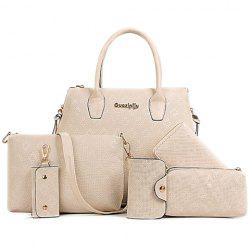 Stylish Metal and Embossing Design Tote Bag For Women