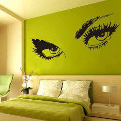 Stylish Sexy Eye Pattern Removeable Wall Sticker - BLACK