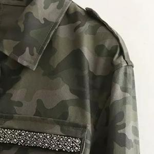 Camouflage Beaded Jacket - DIGITAL CAMOUFLAGE S