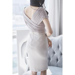 Charming V-Neck Wrap Bodycon Dress For Women -