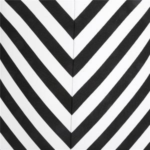 Women's Trendy Halter Black and White Striped One Piece Swimwear -