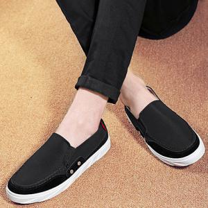 Concise Splicing and Round Toe Design Casual Shoes For Men -