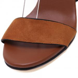 Casual Buckle Strap and Chunky Heel Design Sandals For Women -