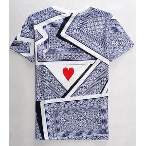 3D Playing Cards Print Round Neck Short Sleeves T-Shirt For Men -
