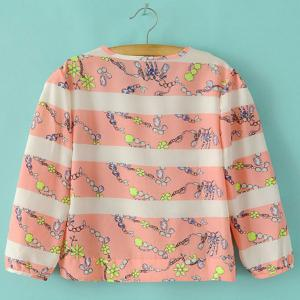 Tiny Floral Striped Blouse -