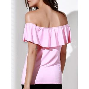 Sweet Off The Shoulder Flounced Blouse For Women -