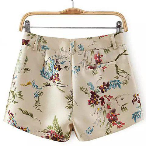 Buy Zip Fly Floral Shorts - M COLORMIX Mobile