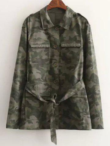 Store Camouflage Beaded Jacket DIGITAL CAMOUFLAGE S