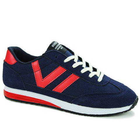 Trendy Leisure Color Matching and Lace-Up Design Athletic Shoes For Men